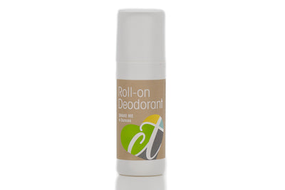 Organic Roll-On Deodorant for Men & Women by Cura.Te Organics in 4 ounce Plastic Roll On