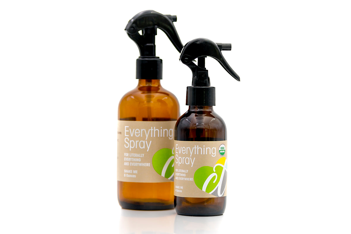 Organic Everything Spray Travel Size by Cura.Te Organics in 8oz Bottle Spray Nozzle