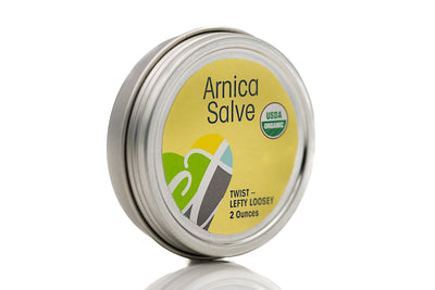 USDA Certified Organic Salve Arnica 2 oz tin with twist top