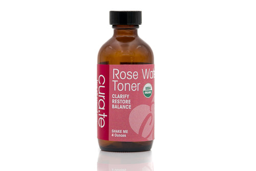 USDA Certified Organic Toner - Rose Water Petal 4 oz by Cura.Te