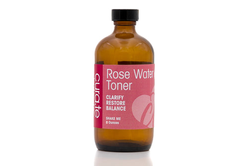 USDA Certified Organic Toner - Rose Water Petal 8 oz by Cura.Te