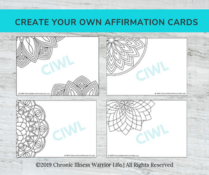 Adult Coloring Affirmation Card Starter Kit: Channel Your Inner Warrior