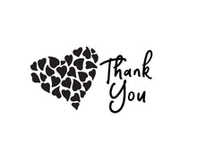 Load image into Gallery viewer, Thank You Notecards Black White Heart in Hearts