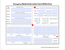Load image into Gallery viewer, Emergency Medical Information Card (Editable PDF)