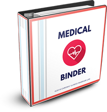 Load image into Gallery viewer, 25 unique medical binder templates plus bonus Emergency Medical Information Forms, Daily Medication Tracker Chart, Symptom Tracker Chart, this is the MOST COMPREHENSIVE Chronic Illness Medical Binder you will find.