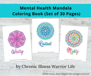 Mental Health Coloring Pages for Depression with Mandalas