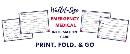 Emergency Medical Information Card (Editable PDF)