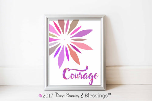 VIBRANT: Courage Fuchsia Starburst Modern Wall Art