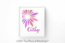 Load image into Gallery viewer, VIBRANT: Courage Fuchsia Starburst Modern Wall Art