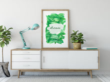 Load image into Gallery viewer, Inspirational Modern Wall Art: Dream Green Acrylic