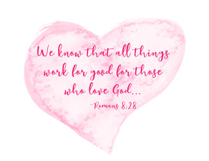Inspirational Bible Verse Notecards Romans 8:28
