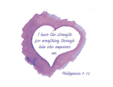 Load image into Gallery viewer, Inspirational Bible Verse Notecards Philippians 4:13