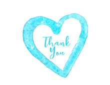 Load image into Gallery viewer, Thank You Notecards Turquoise Watercolor Heart