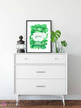 Load image into Gallery viewer, Inspirational Modern Wall Art: Grow Green Acrylic