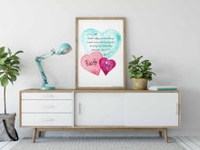 Load image into Gallery viewer, WATERCOLOR HEARTS: Bible Verse Art - James 1:2-3