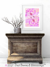 Load image into Gallery viewer, VIBRANT:  Swirls of Pink Modern Wall Art