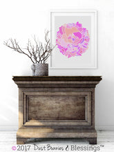 Load image into Gallery viewer, VIBRANT: Fuchsia Floral Modern Wall Art