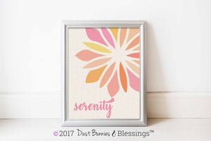 "SERENITY PRAYER:  ""Serenity"" Inspirational Wall Art"