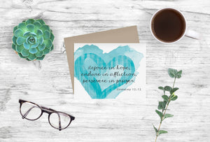 Inspirational Bible Verse Notecards Romans 12:12