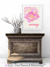 "Load image into Gallery viewer, SERENITY PRAYER:  ""Courage"" Inspirational Wall Art"