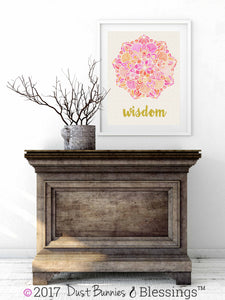 "SERENITY PRAYER:  ""Wisdom"" Inspirational Wall Art"