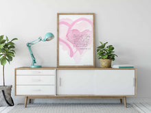 Load image into Gallery viewer, WATERCOLOR HEARTS: Bible Verse Wall Art - Zephaniah 3:13