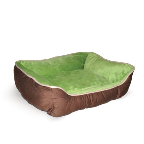 Abbey Daily Deals, Self-Warming Lounge Sleeper Pet Bed - Small - Mocha/Green, Top Pet Beds - Abbey Daily Deals - Abbeyshoppingplaza.com Shopify