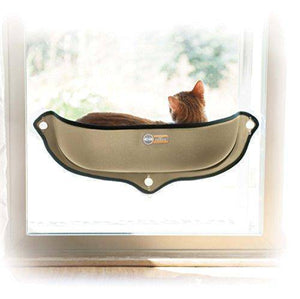 "Amazon.com : K&H Pet Products EZ Mount Window Bed Kitty Sill Tan 27"" x 11"" : Pet Supplies,  - Abbey Daily Deals - Abbeyshoppingplaza.com"