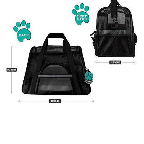 Abbey Daily Deals, Premium Airline Approved Soft-Sided Pet Travel Carrier - Small - Black, Top Pet Carriers - Abbey Daily Deals - Abbeyshoppingplaza.com Shopify