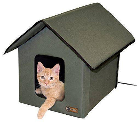 Abbey Daily Deals, Amazon.com : K&H Manufacturing Outdoor Kitty House, 18 x 22 x 17-Inches, Heated - Olive : Pet Beds : Pet Supplies,  - Abbey Daily Deals - Abbeyshoppingplaza.com Shopify