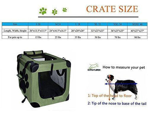 Image of Abbey Daily Deals, Collapsible Foldable Pet Carrier - Indoor/Outdoor - Medium - Green, Top Pet Carriers - Abbey Daily Deals - Abbeyshoppingplaza.com Shopify