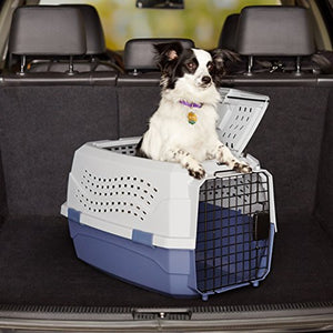 Top Quality Pet Carrier - Medium - Grey/Blue