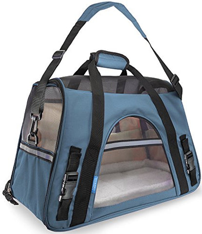 Image of Abbey Daily Deals, Airline Approved Pet Carriers For Dogs & Cats - Small, Mineral Blue, Top Pet Carriers - Abbey Daily Deals - Abbeyshoppingplaza.com Shopify