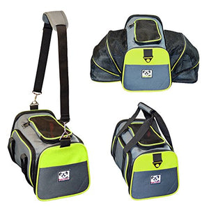 Abbey Daily Deals, Expandable Foldable Airline Approved Pet Carrier - Charcoal / Green Trim - Medium, Top Pet Carriers - Abbey Daily Deals - Abbeyshoppingplaza.com Shopify