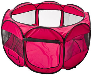 Pop-Up Tent - Pet Portable PlayPen - Red