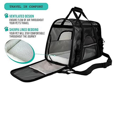 Image of Abbey Daily Deals, Premium Airline Approved Soft-Sided Pet Travel Carrier - Small - Black, Top Pet Carriers - Abbey Daily Deals - Abbeyshoppingplaza.com Shopify