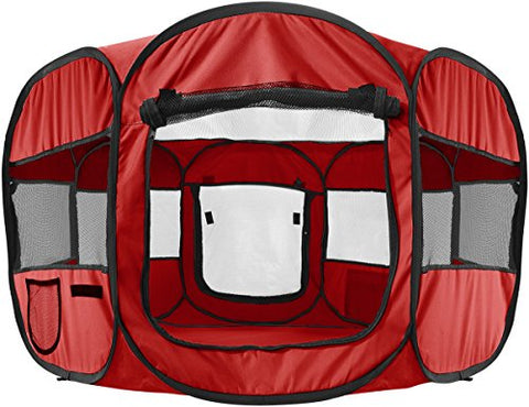 Image of Abbey Daily Deals, Pop-Up Tent - Pet Portable PlayPen - Red, Top Pet Carriers - Abbey Daily Deals - Abbeyshoppingplaza.com Shopify