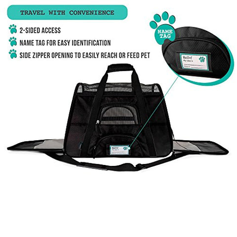 Image of Abbey Daily Deals, Premium Airline Approved Soft-Sided Pet Travel Carrier - Black - Large, Top Pet Carriers - Abbey Daily Deals - Abbeyshoppingplaza.com Shopify