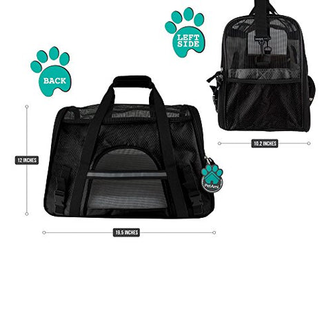 Abbey Daily Deals, Premium Airline Approved Soft-Sided Pet Travel Carrier - Black - Large, Top Pet Carriers - Abbey Daily Deals - Abbeyshoppingplaza.com Shopify
