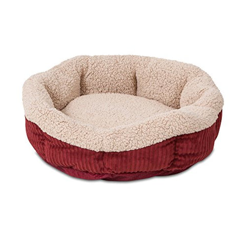 Abbey Daily Deals, Self-Warming Cat Bed - Small - Red Cream, Top Pet Beds - Abbey Daily Deals - Abbeyshoppingplaza.com Shopify