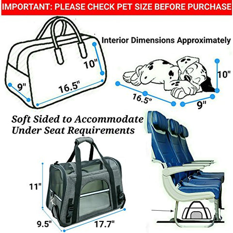 Abbey Daily Deals, Airline Approved Two-Tone Luxury Pet Carrier -  Medium / Charcoal Ash, Top Pet Carriers - Abbey Daily Deals - Abbeyshoppingplaza.com Shopify