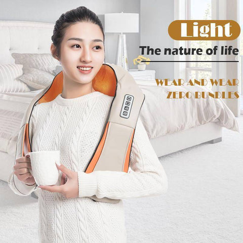 Abbey Daily Deals, Home Car Electrical Infrared 4D Back Massager U Shape Shiatsu Back Neck Shoulder Body Massager Infrared Heated Kneading Massage,  - Abbey Daily Deals - Abbeyshoppingplaza.com Shopify