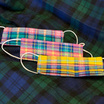 Bright Trio - Tartan and Polka Dot Set of 3 Masks
