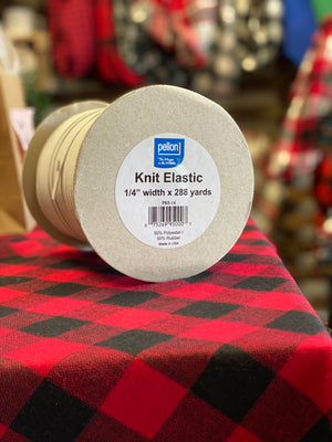 1/4 Inch Knit Elastic Made in the USA by Pellon 25 yard Bundle for Mask Making or other sewing and craft projects