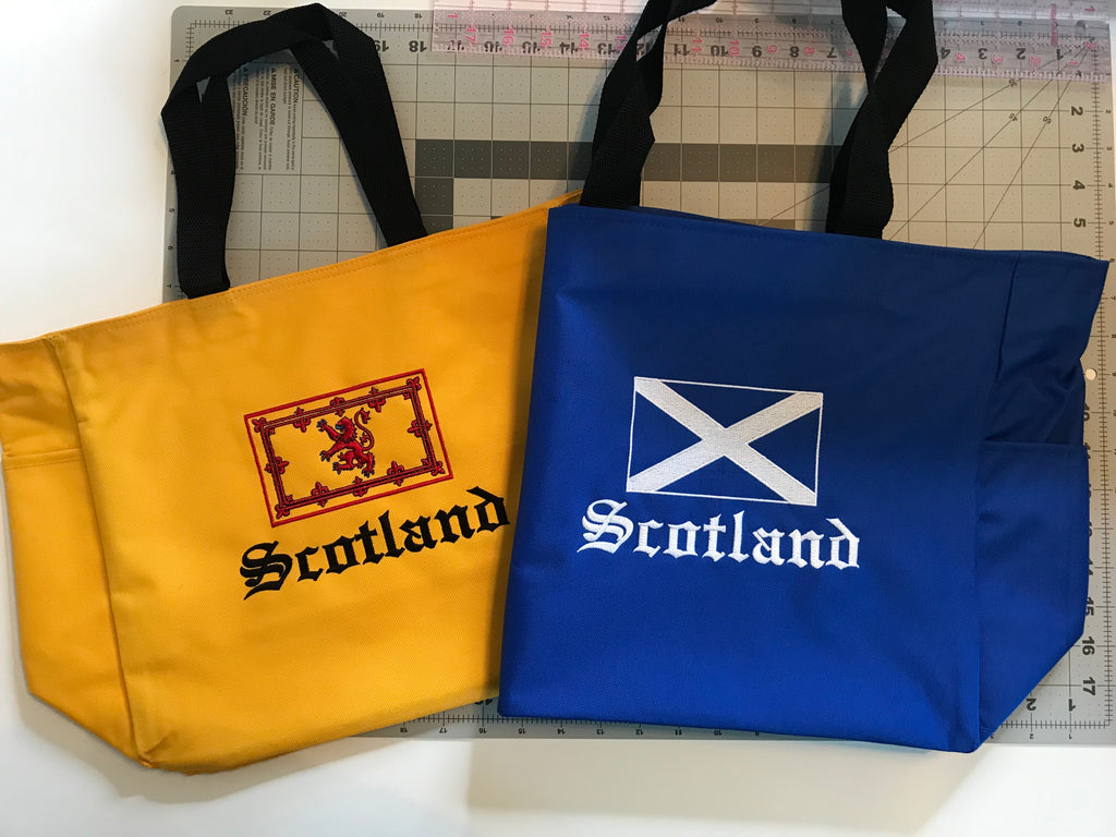 Scotland Saltire and Royal Standard Rampant Lion Flag Tote Bags