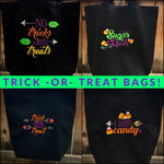 No Tricks Only Treats Embroidered Trick or Treat Halloween Tote Bag