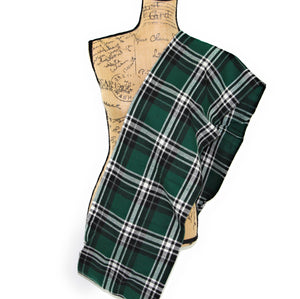 Hunter Green, White, and Black Flannel Plaid Infinity or Blanket Scarf
