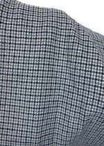 Light Gray, Smokey Gray, and Black Houndstooth Plaid Medium Weight Flannel Scarf