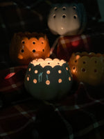 NEW Ceramic Pumpkin Votives with 2oz Fall Scented Candle