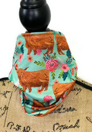 Cute Highland Coos Cow Neck Gaiter/Face Covering